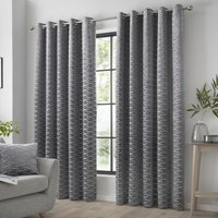 Kendal Ready Made Eyelet Curtains Charcoal