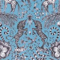 Emma Shipley Kruger Velvet Curtain Fabric Teal