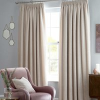Langley Ready Made Blackout Curtains Cream