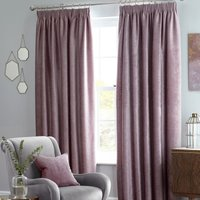 Langley Ready Made Blackout Curtains Heather