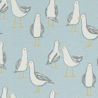 Laridae Curtain Fabric Duckegg