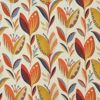 Leon Curtain Fabric Burnt Orange