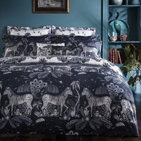 Lost World Duvet Cover Navy and White