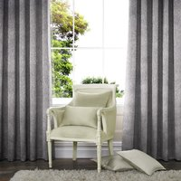 Lusso Ready Made Velour Eyelet Curtains Mink