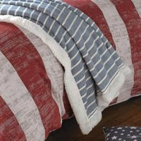 Mason Quilted Bed Throw Denim