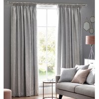 Metro Ready Made Lined Curtains Silver