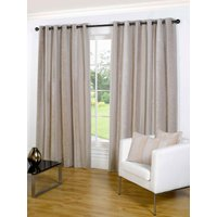 Notting Hill Ready Made Lined Eyelet Curtains Stone