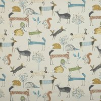 Oh My Deer Curtain Fabric Colonial