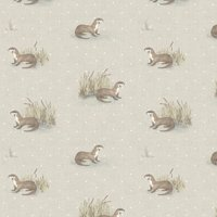 Otter Curtain Fabric Natural