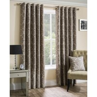 Park Lane Ready Made Lined Eyelet Curtains Latte