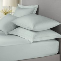 Signature Plain Dye Deep Fitted Bed Linen Duck Egg