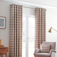 Rio Ready Made Lined Eyelet Curtains Spice