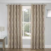 Ritz Blockout Ready Made Eyelet Curtains Natural