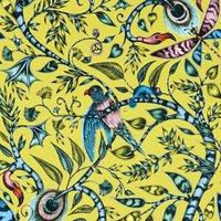 Emma Shipley Rousseau Velvet Curtain Fabric Lime