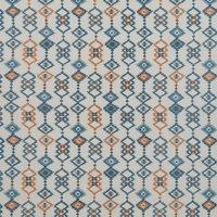 Sante Fe Curtain Fabric Teal