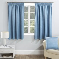 Serenity Ready Made Blockout Curtains Blue