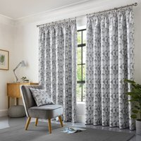 Skandi Ready Made Curtains Silver