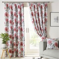 Sofia Ready Made Lined Curtains Scarlet