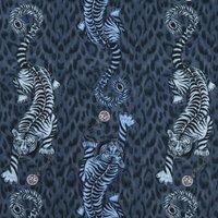 Emma Shipley Tigris Curtain Fabric Navy