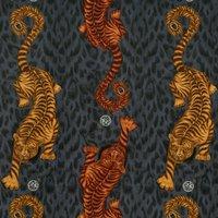 Emma Shipley Tigris Velvet Curtain Fabric Flame