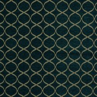 Trellis  Curtain Fabric Teal
