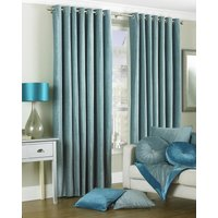 Wellesley Ready Made Lined Eyelet Curtains Duck Egg