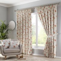 Westbury Ready Made Lined Curtains Terracotta
