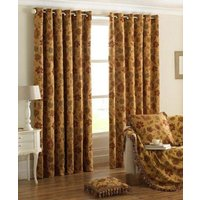 Zurich Ready Made Eyelet Curtains Gold