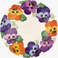 Seconds Purple Pansy Large Tea Saucer
