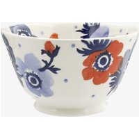 Red & Blue Anemone Small Old Bowl