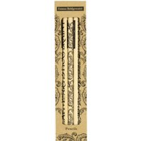 Black Scroll Set of 5 Pencils Boxed