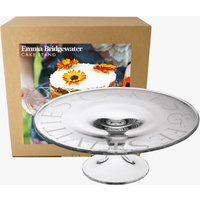 Black Toast Glass Cake Stand Boxed