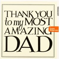 Black Toast Thank You Dad Card.