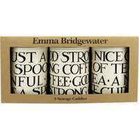 Black Toast Set of 3 Round Tin Caddies Boxed