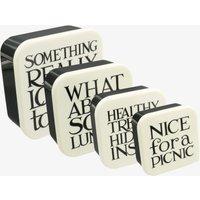 Black Toast Set of 4 Melamine Snack Boxes