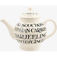 Seconds Black Toast AO Writing 4 Mug Teapot