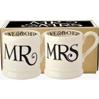 Black Toast Mr & Mrs 2 x 1/2 Pint Mugs