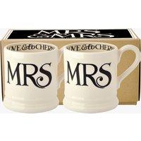 Mrs & Mrs Set of 2 1/2 Pint Mugs
