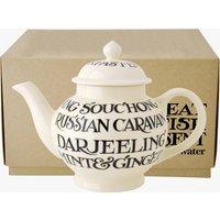 Black Toast All Over 4 Mug Teapot Boxed