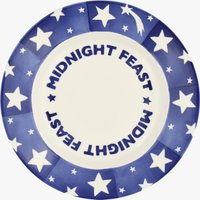 Seconds Blue Shooting Star 'Midnight Feast' 8 1/2 Plate