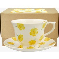 Buttercup Scattered Large Teacup & Saucer Boxed