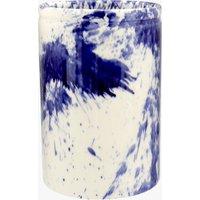 Seconds Blue Splatter Medium Vase