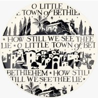 Seconds O Little Town Black 8 1/2 Plate