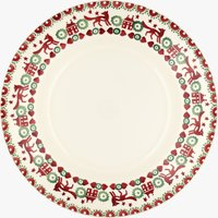Seconds Christmas Joy Red & Green 10 1/2 plate