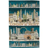 Cities of Dreams London at Night Tea Towel.
