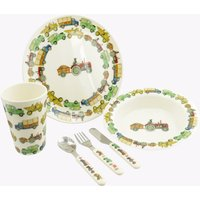 Dogs Like Driving  6 Piece Children's Melamine Boxed Set