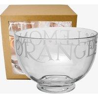 Black Toast Glass Large Bowl Boxed