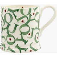 Joy Trumpets Green 'All Over Joy' 1/2 Pint Mug