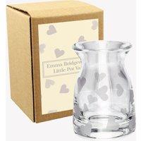 Hearts Little Glass Pot Vase Boxed