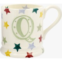Seconds Polka Stars Alphabet Q 1/2 Pint Mug